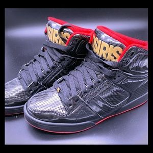 Osiris NYC 83 patent leather Hitops Sz 9